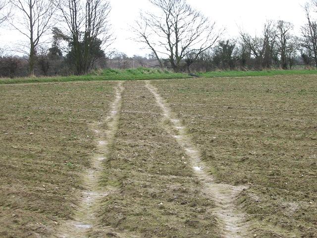 Footpath across field near Northbourne