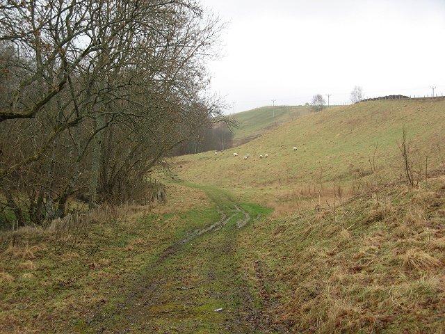 Farmland beside the Kinnaird Burn