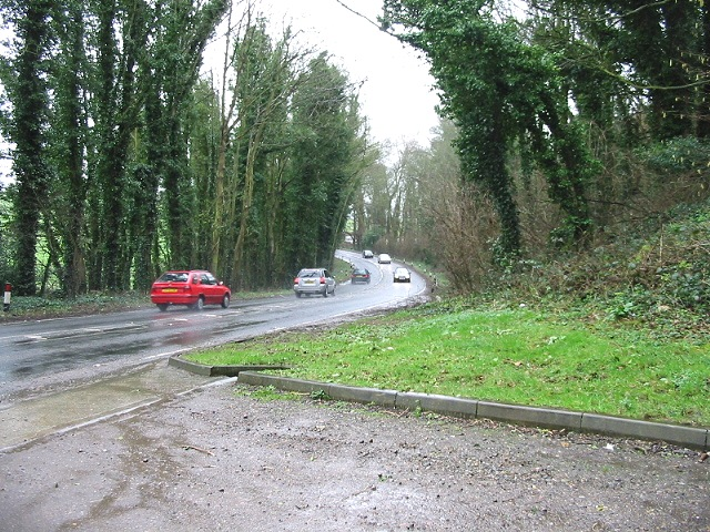View of the A258 looking NE