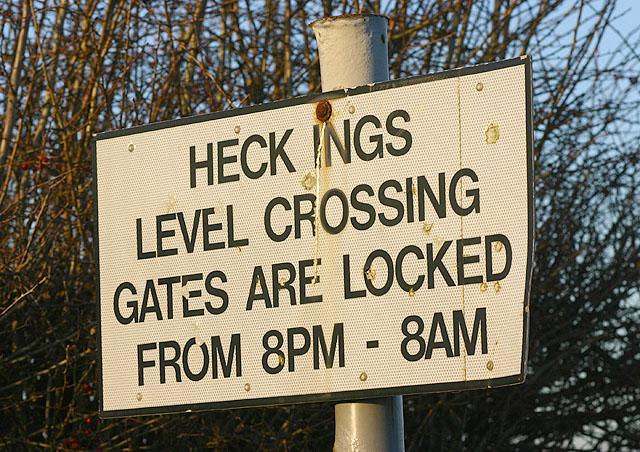 Heck Ings Level Crossing Notice