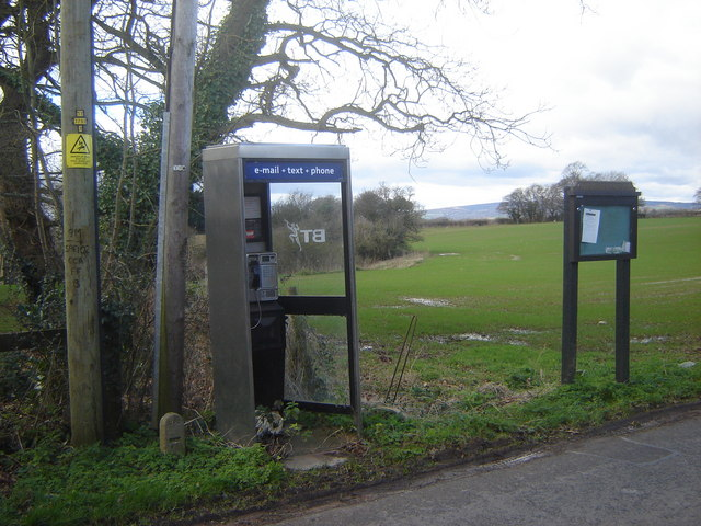 Phone box at Leechpool, Monmouthshire