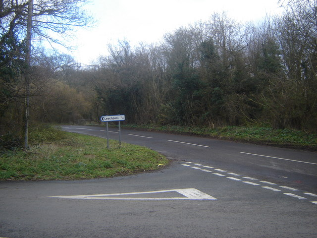 Junction of road between Leechpool & Portskewett
