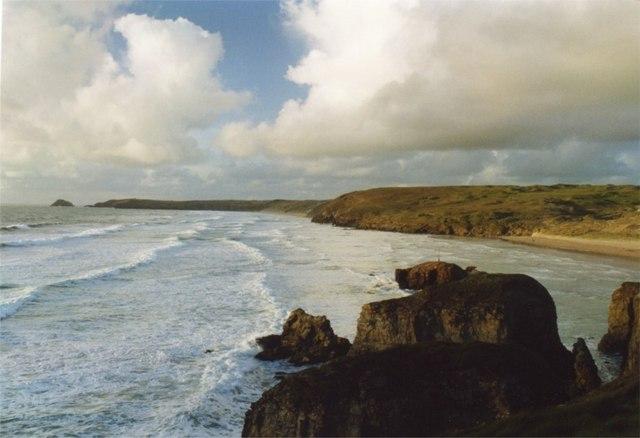 Coastline at Perranporth