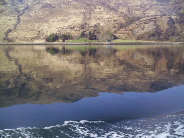 Camas Domhain from Loch Hourn