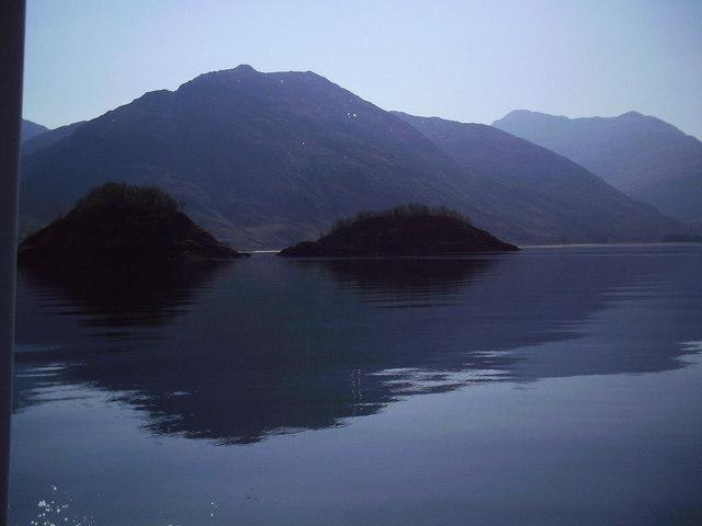 Corr Eileanan, two small islands in Loch Hourn