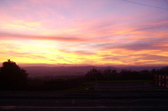 Sunset from Clee Hill
