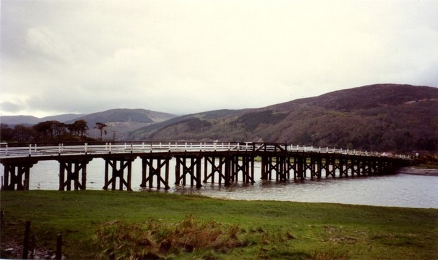 Toll bridge over the Mawddach at Penmaenpool