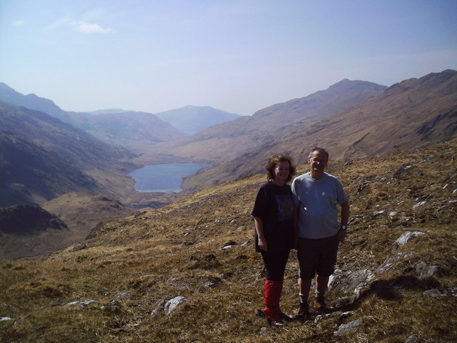View from the Saddle Point in Barrisdale down to Loch an Dubh-Lochain