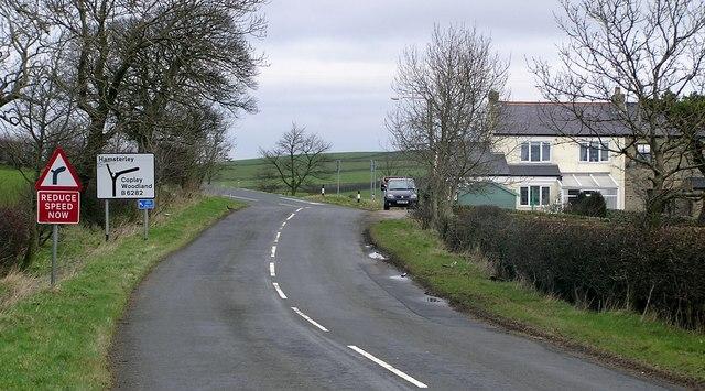 B6282 Junction : Woodland