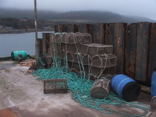 Lobster Pots on Carradale Pier.