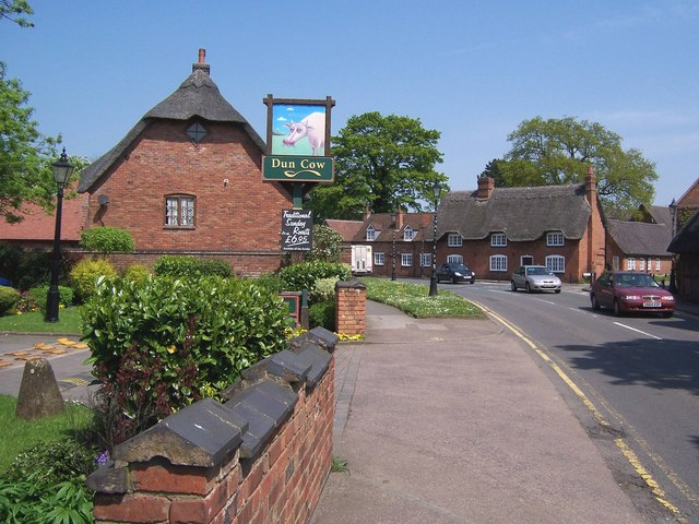 Dun Cow pub in Dunchurch village