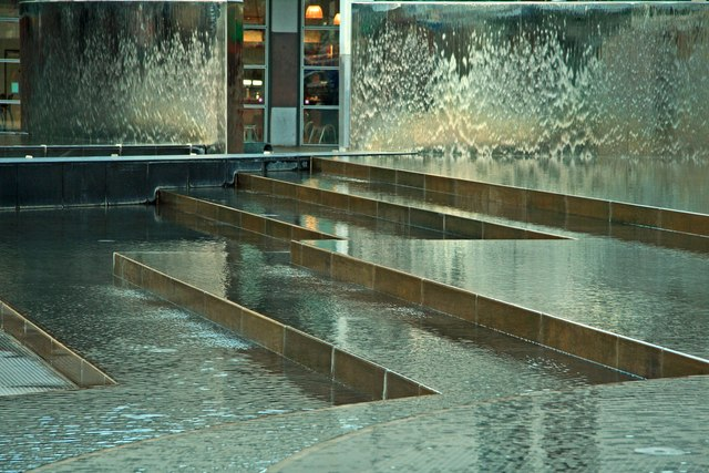 Water feature at Millennium Square, Bristol