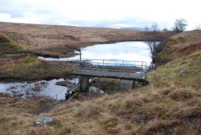 Dam on Allt Mealach