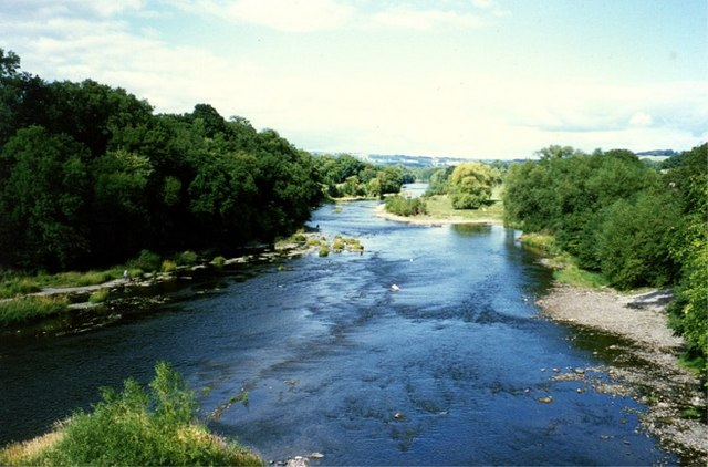 River Wye from the bridge at Hay-on-Wye