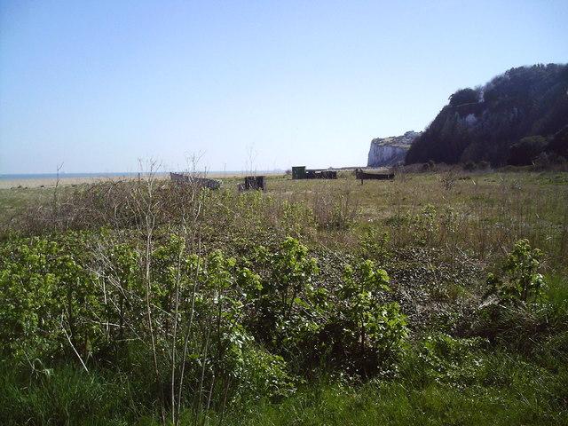 New Land formed from shingle near Kingsdown