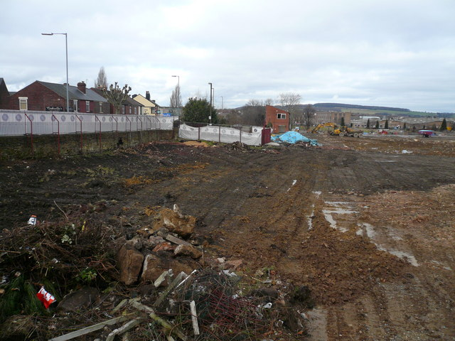 View towards Sheffield Road across cleared Dema Glass Site