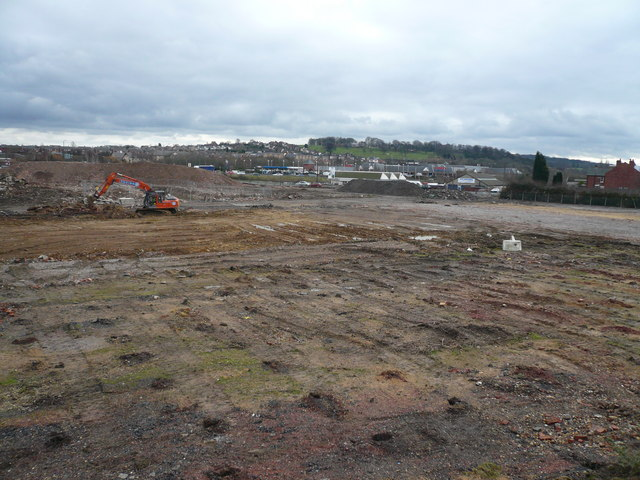 View towards Meltham Lane (Tesco) across cleared Dema Glass Site