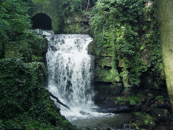 The Wensley waterfall