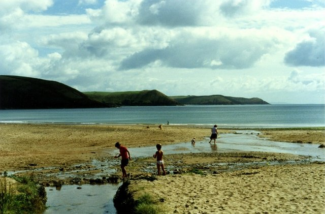 Sandy beach at Freshwater East