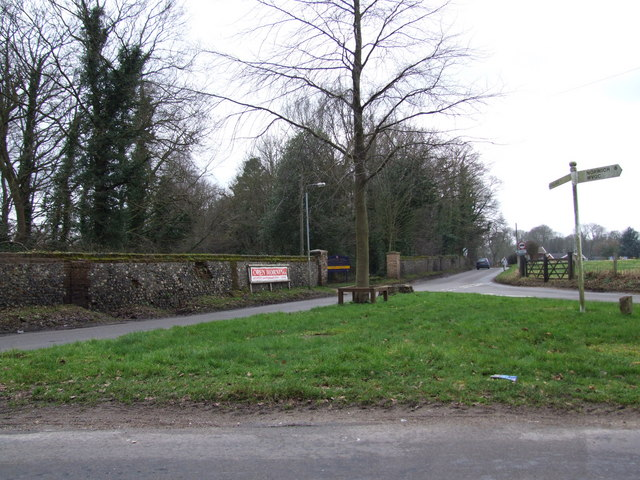 Taverham Hall Boundary Wall and Road Junction