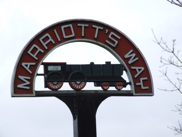 Marriott's Way Sign, Thorpe Marriott