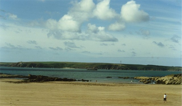 Passage to Milford Haven from  sands of West Angle Bay