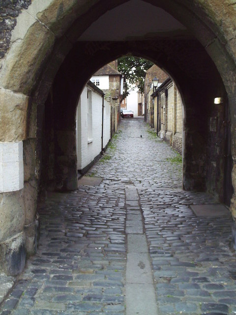 Fishergate, a cobbled street in Sandwich.