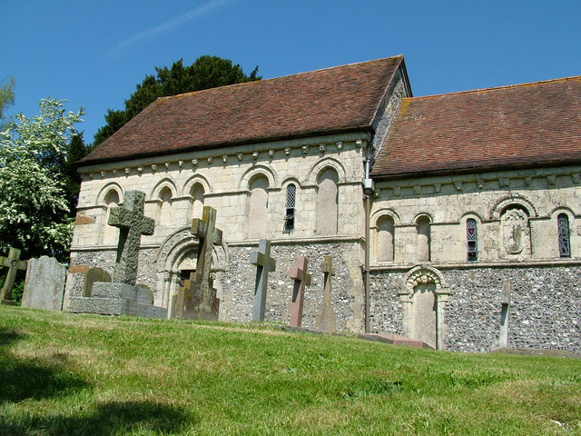 Barfrestone church from the South East
