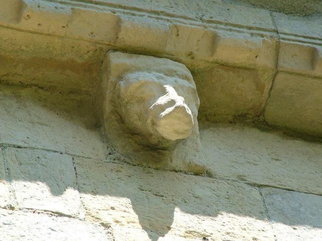 Barfrestone church, carved detail