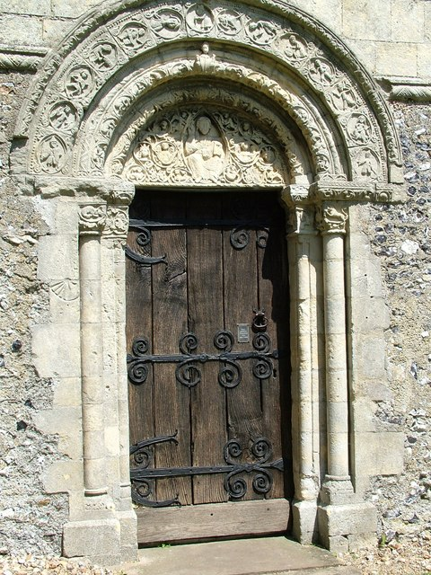 Doorway and Arch at Barfrestone Church