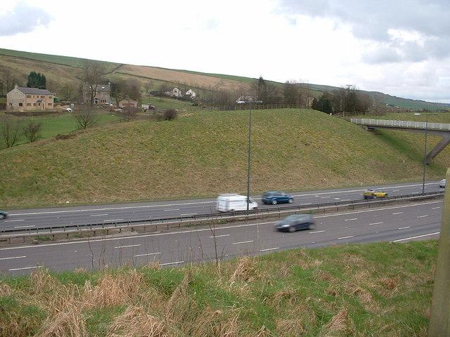 M62, Tunshill, Milnrow, 2007