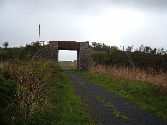 Road bridge over the Formartine and Buchan Way