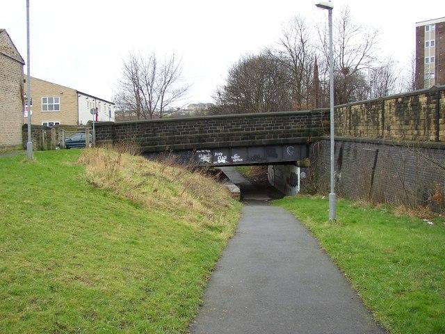 The Halifax Old Road bridge, Fartown cycleway, Huddersfield
