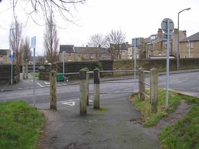 The Cobcroft Road crossing, Fartown cycleway, Huddersfield