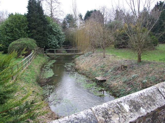 Footbridge Crossing Stream, Attlebridge