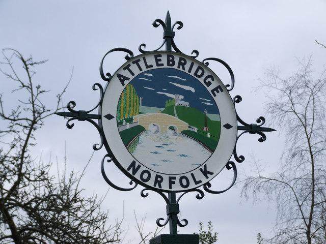 Attlebridge Village Sign
