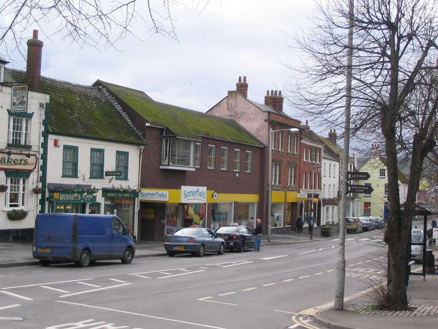 Shops in West Street, Bridport