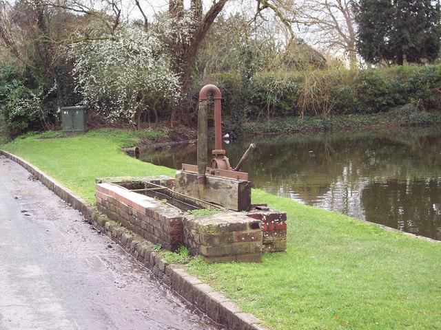 Pump by Crawley village pond