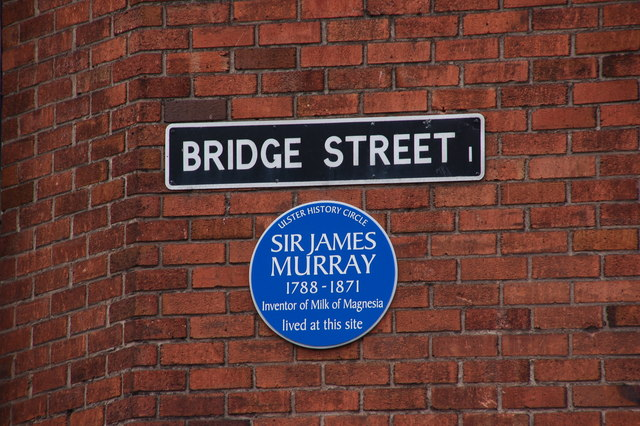 Sir James Murray plaque, Bridge Street, Belfast