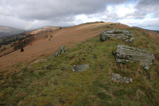 The summit ridge of Bryn Arw