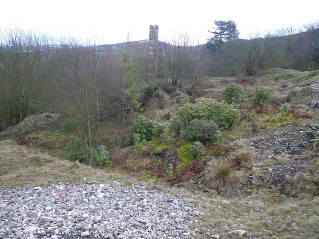Cocking Tor - Gregory Mine Chimney and Spoil Heaps