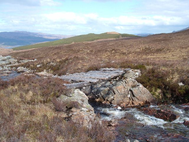 Rotten Bridge over the Allt Lon Glas Bheinn