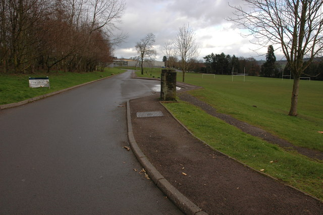 Leisure centre and sports field, Abergavenny