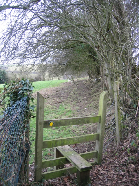 Footpath  and Stile near Pen-y-felin