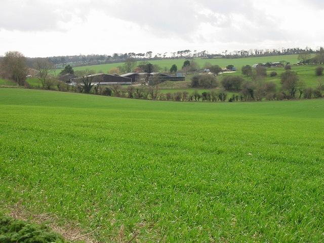 Winkland Oaks Farm set amongst the fields