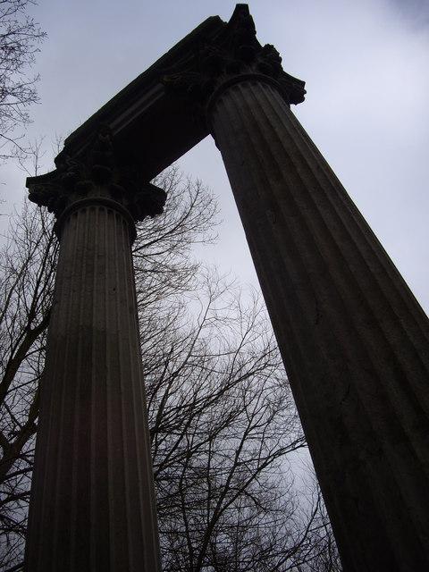 Pillars in the Gibbard Garden