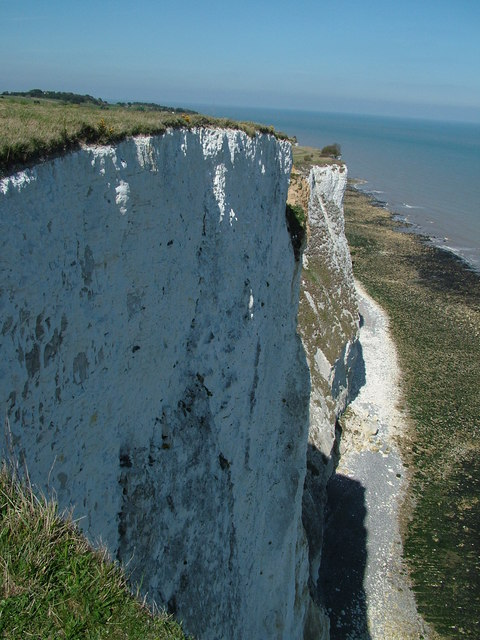 The White Cliffs adjacent to the Dover Patrol Memorial