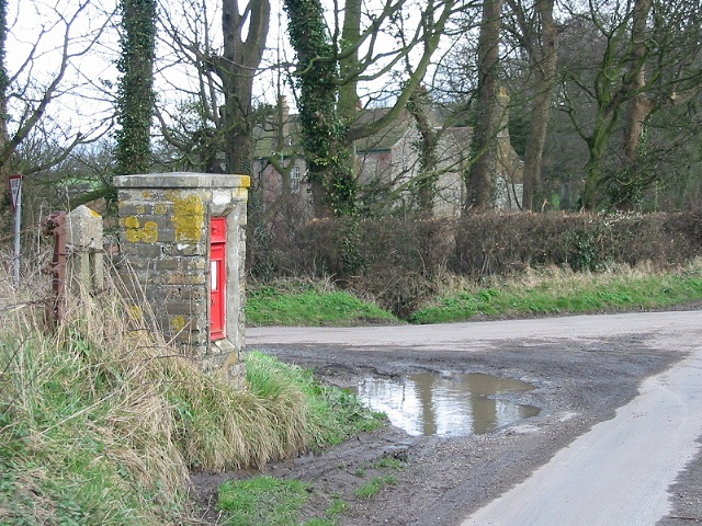 Post box at the end of Roman Road