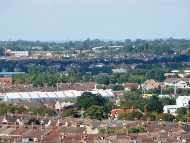 View north from Christ Church belfry, Cricklade Street, Swindon (2)