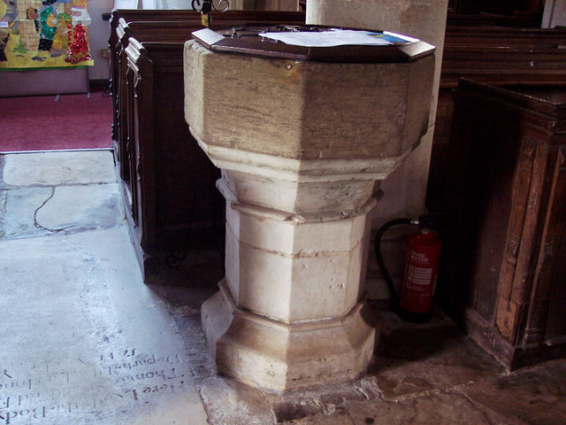 Church of the Blessed Virgin Mary, Singleton - Font